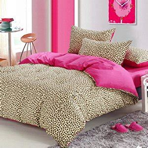 Amazon Com Pink Cheetah Print Bedding Leopard Print Duvet Pink Cheetah Print Bed Set