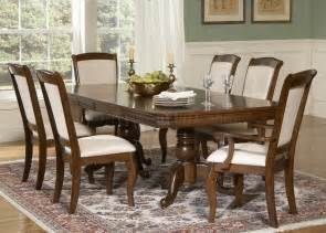 Formal Dining Table Cherry Finish Pedestal Formal Dining Table W Options