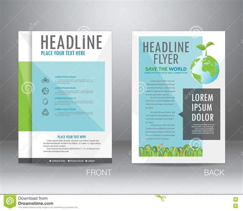 helping nature brochure template design and layout ecology brochure design template vector stock vector