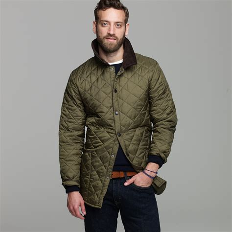 Barbour Quilted Jacket by J Crew Barbour Liddesdale Jacket In Green For Lyst