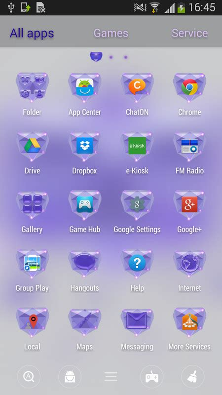 go launcher themes violet purple go launcher theme free android theme download