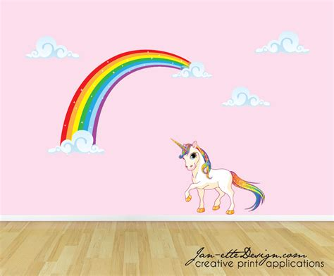 wall stickers rainbow rainbow unicorn wall decal unicorn wall sticker rainbow wall