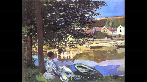 on the banks of the seine 1 claude monet on the bank of the seine bennecourt 1868