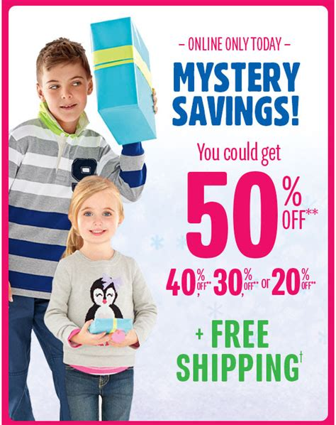 A Free Shipping Mystery - the children s place mystery savings up to an 50