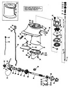 25 hp johnson outboard water pump diagram