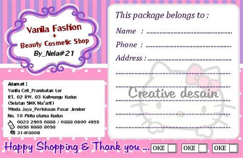 Kertas Alamat Label Alamat Pengiriman Label Paket digital colour and offset profesional