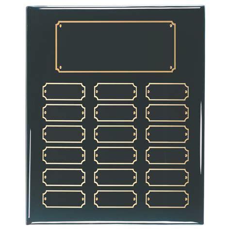 black piano finish perpetual plaque