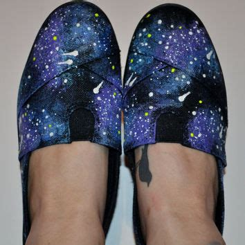 Painted Slip Ons galaxy painted slip ons from agneselizabeth on etsy epic
