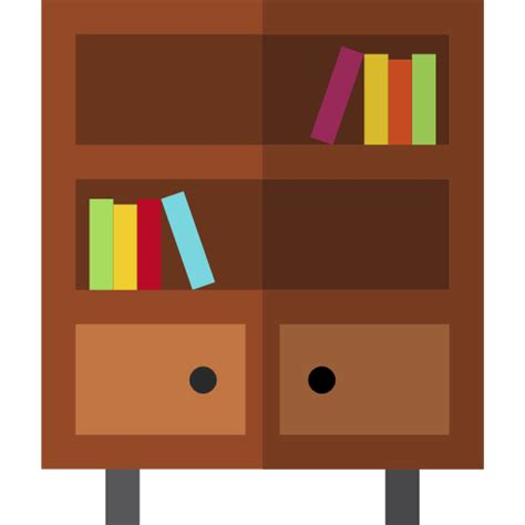 Book Shelf Icon by Bookshelf Free Furniture And Household Icons