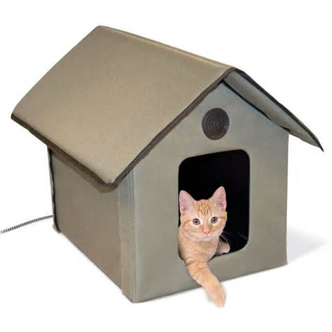 heated outdoor cat house k h 3993 outdoor heated kitty house kh 3993 outdoor heated cat house cat bed ebay
