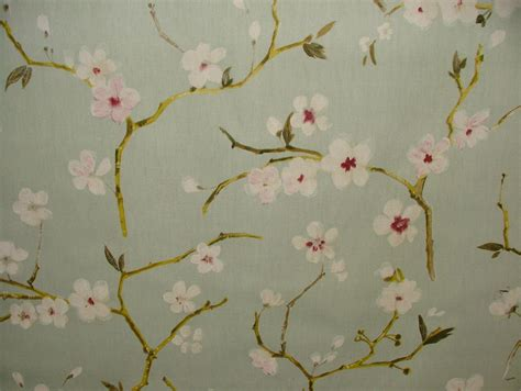 cherry blossom upholstery fabric prestigious textile emi duck egg cherry blossom floral
