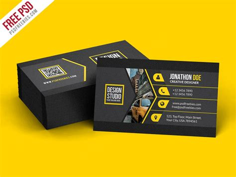 business cards photoshop template free creative black business card template psd psdfreebies