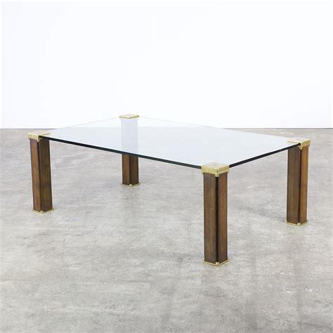 70s ghyczy t66 coffee table glass brass teak