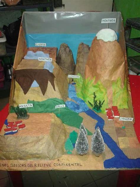 trabajo de maquetas de costas maquetas escolares relieve las 25 mejores ideas sobre volcan maqueta en pinterest