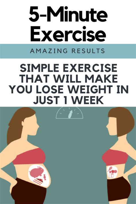 simple exercise that will make you lose weight in just 1 week