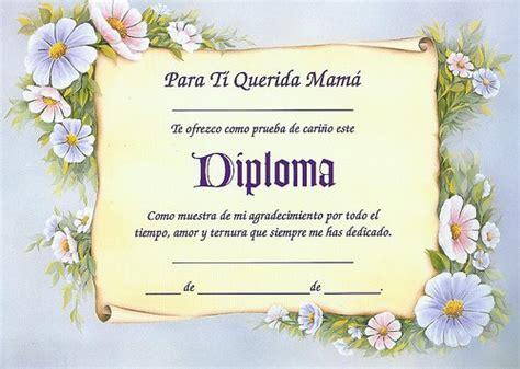 diploma madres diplomas para una madre imagui
