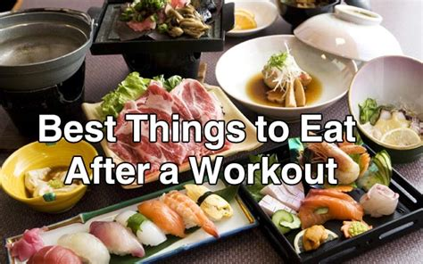 Best foods to eat after a workout for men