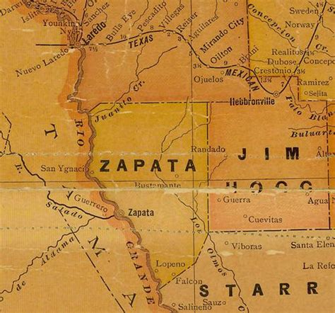 zapata texas map zapata county texas