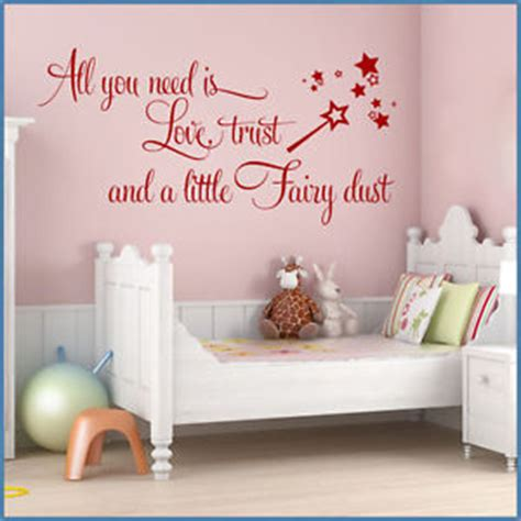 teen bedroom quotes love trust fairy dust baby girls teen bedroom wall