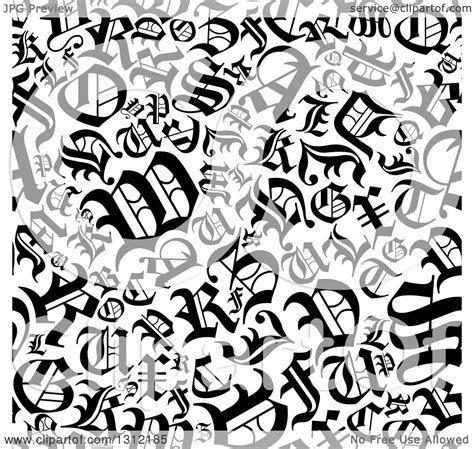 pattern of english letter clipart of a seamless background pattern of black and