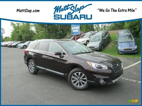brown subaru 2017 brilliant brown pearl subaru outback 2 5i touring
