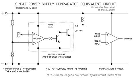 Kr04536 Lm339 Single Supply Comparators 25 comparator equivalent circuits for single power supplies basic circuit circuit diagram