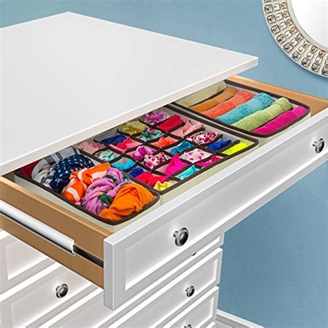 sorbus set of 4 foldable drawer dividers storage boxes