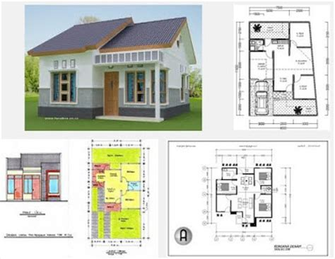 rumah sederhana berkamar tiga di lahan 6x12 5m tipe padas denah rumah sederhana 3 kamar tidur