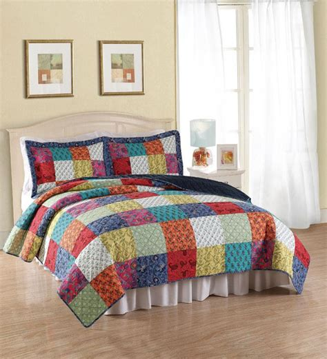 bright multi colored comforters tradition blue bright multi color cotton 3pc full queen