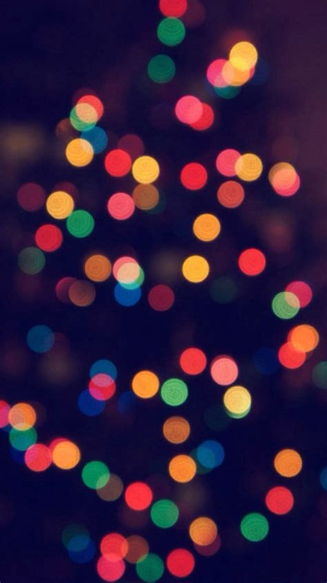 christmas tree bokeh iphone 6 wallpapers axeetech