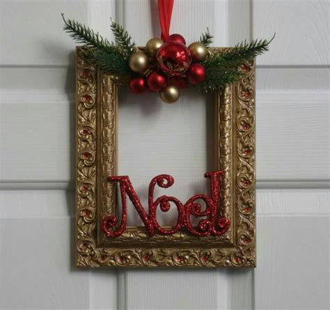 christmas decorations using photo frames christmas