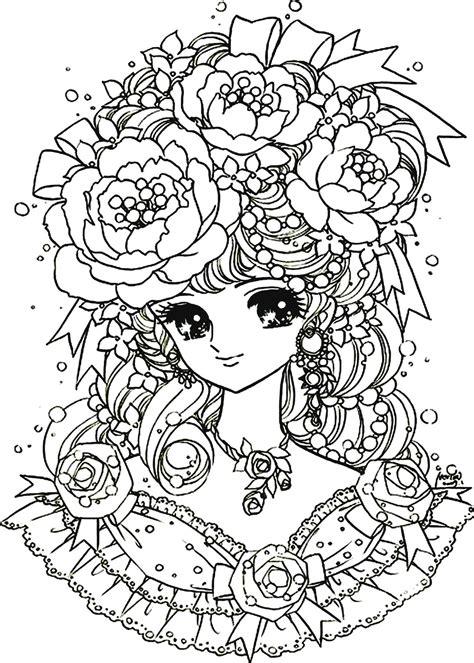 anti stress coloring book japan coloriage fille difficile 224 imprimer