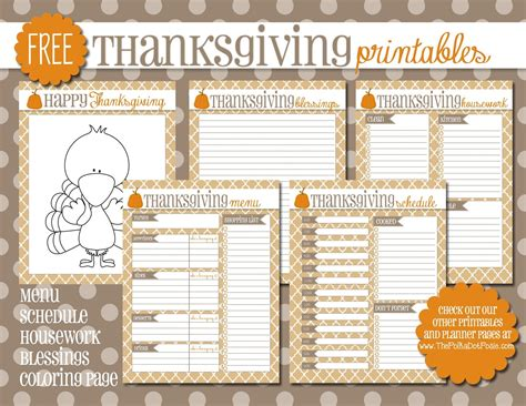 the polka dot posie free thanksgiving printables for your