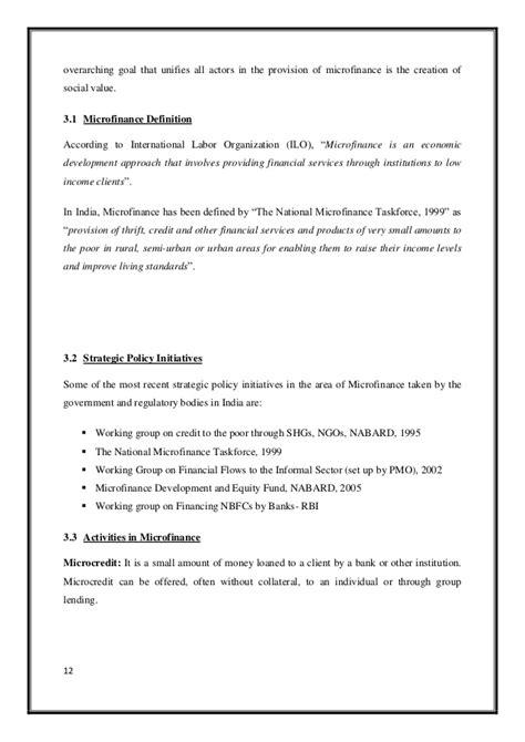 microfinance thesis topics dissertation report on microfinance microfinance
