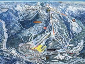 panorama canada ski snowboard resort area trail map a