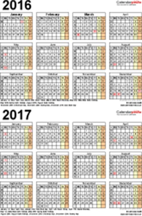 2 year calendar template two year calendars for 2016 2017 uk for excel