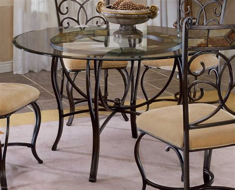 metal dining room table hillsdale pompei metal dining table with slate top 4442