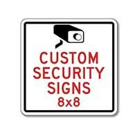 custom security signs home security signs stopsignsandmore