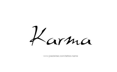 karma name tattoo designs