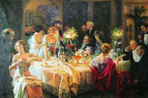 dinner painting handmade painting repro jules alexandre grun the