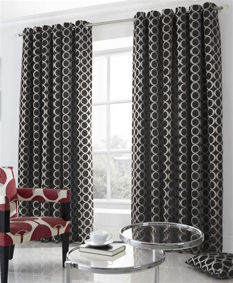 black and cream curtains uk luxury heavy chenille lined curtains eyelet curtains red