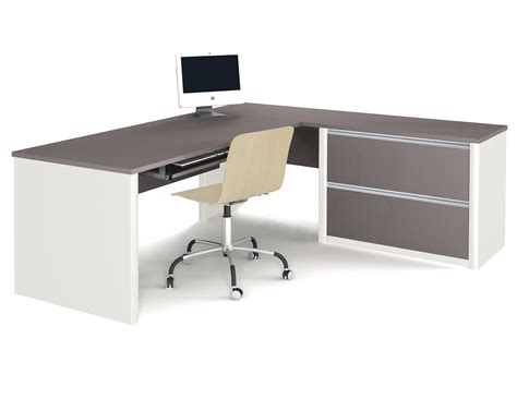 L Shaped Work Desk Bestar Connexion L Shaped Desk