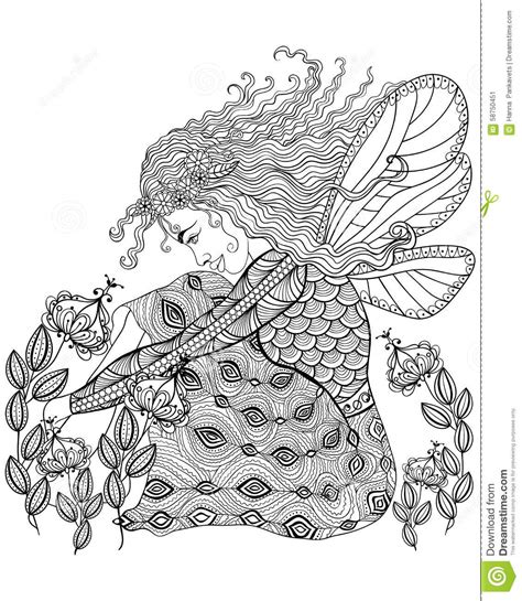 balance anti stress coloring zentangle balance and stress relief coloring book for adults forest with wings in flower for anti stress