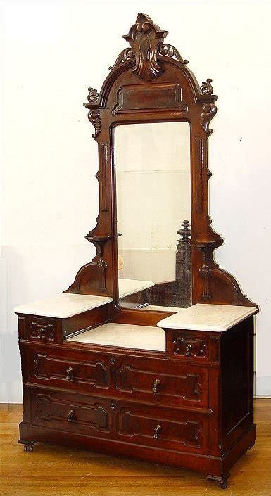victorian dresser top mirror 57 victorian marble top dresser and mirror lot 57