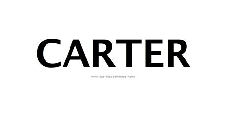 tattoo design male name carter 20 26 png