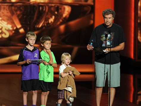 ferrell  emmys presenter comedian brings kids