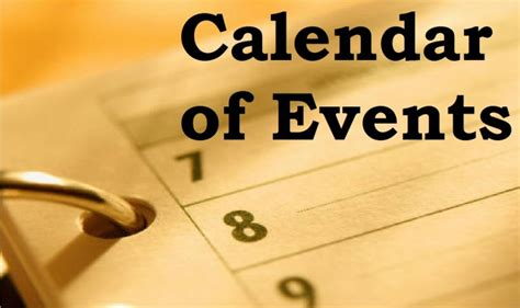 Calendar Events Today Calendar Of Events