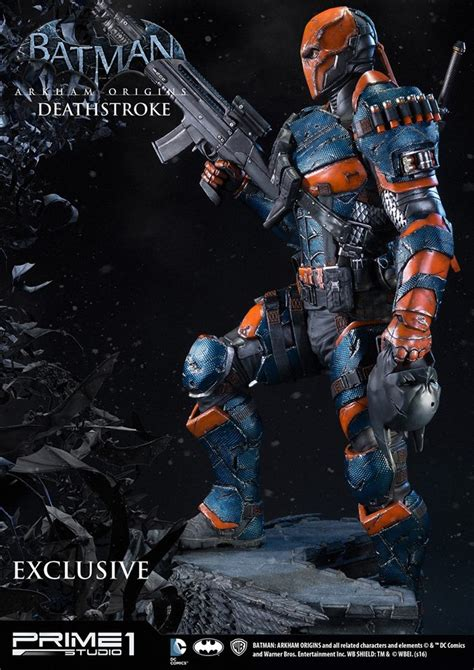 Statue Prime One Deathstroke batman arkham origins deathstroke statue by prime 1 studio the toyark news