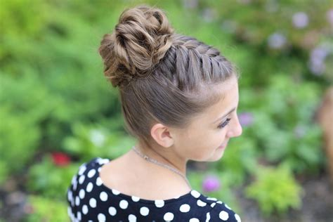 cute girl hairstyles messy bun double french messy bun updo cute girls hairstyles