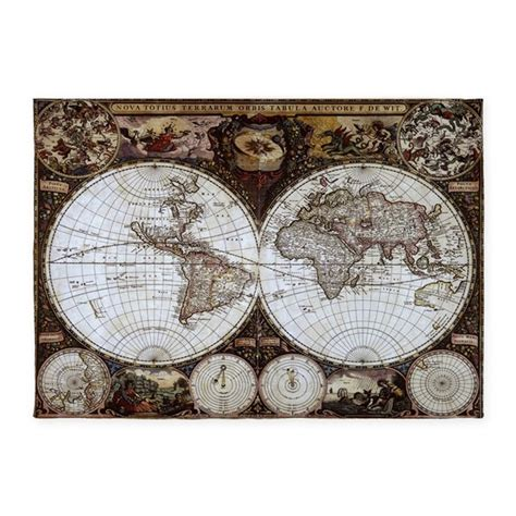 World Map Area Rug Ancient World Map 5 X7 Area Rug By Coolbedding